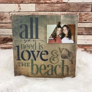 Malden All You Need Is Love & The Beach Wood Frame